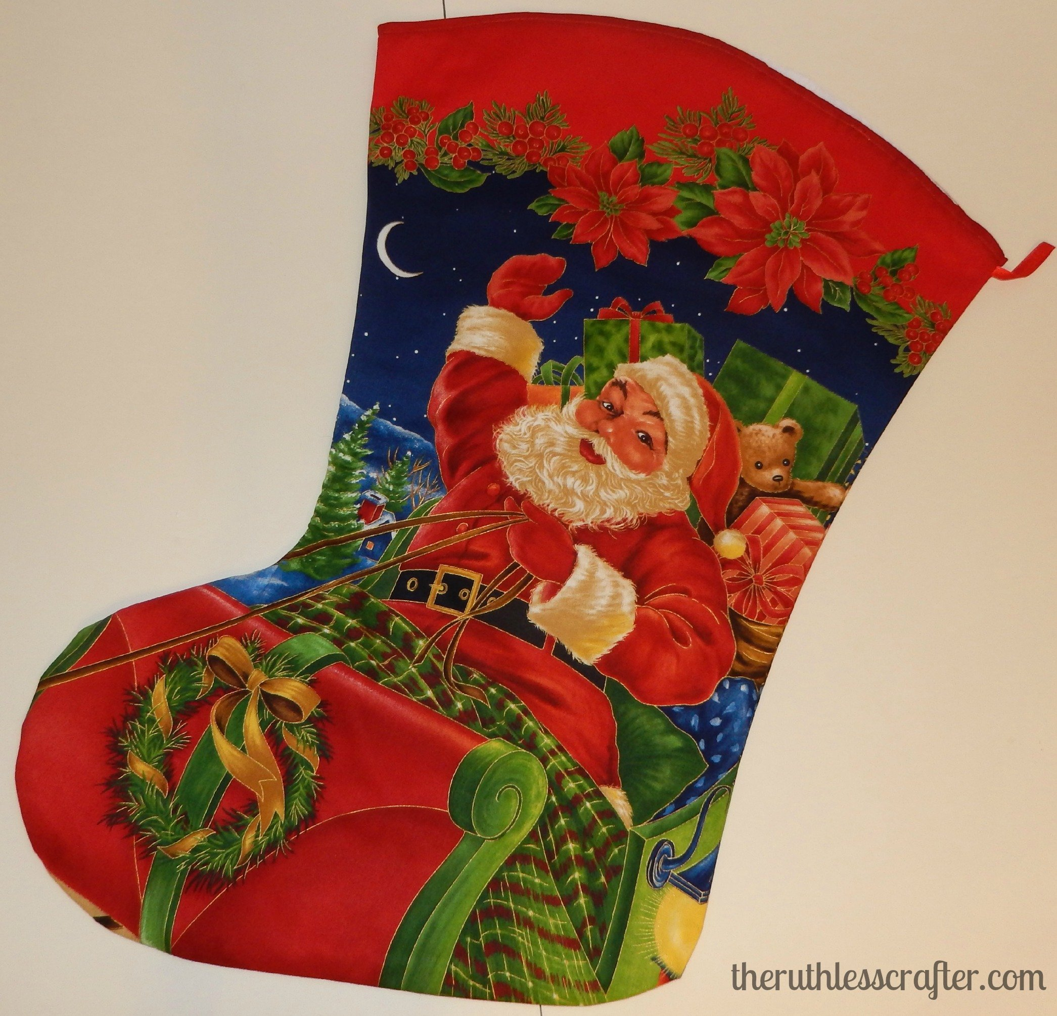 Santa stocking (large). This item is for sale in my Shop.