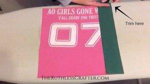 How to Make A T-Shirt Quilt: Adding Sashing 02