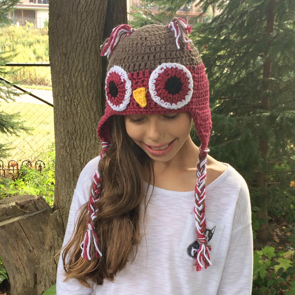 03 Cranberry Owl Hat (3)