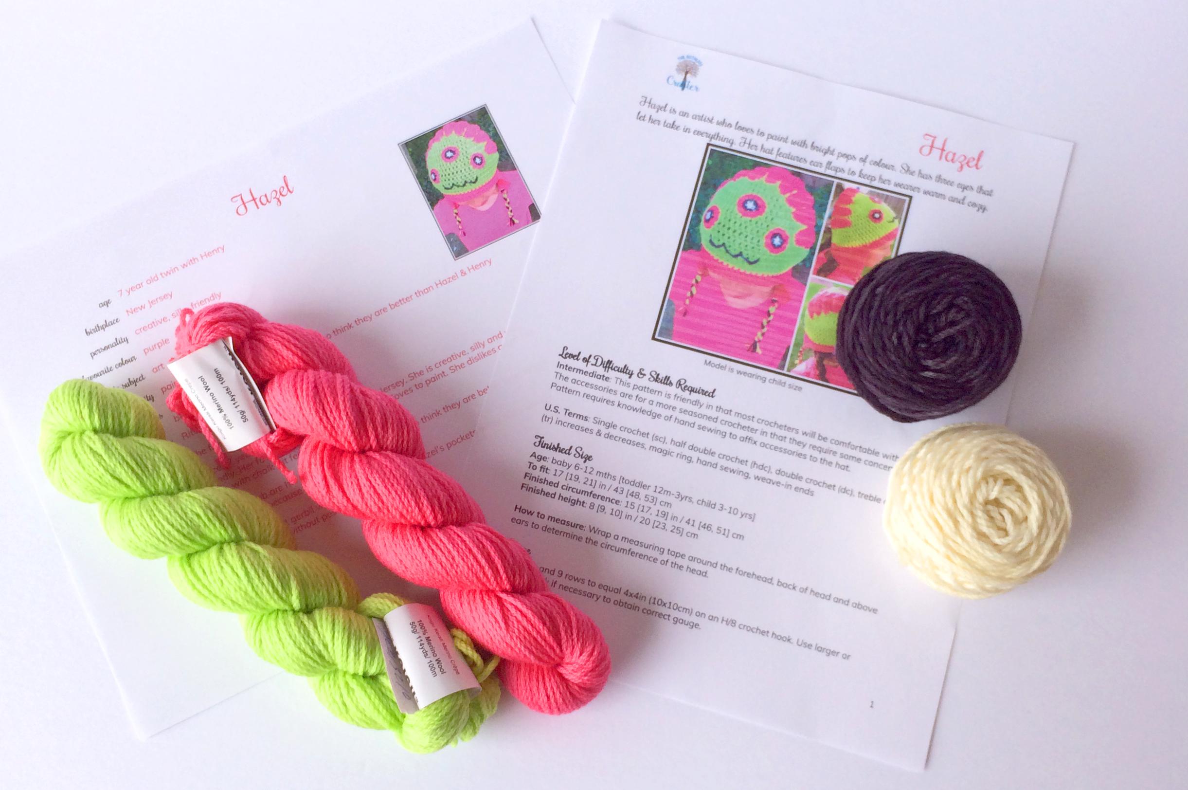 Crochet diy kit hazel infant toddler or child size crochet diy kit hazel infant toddler or child size ccuart Choice Image
