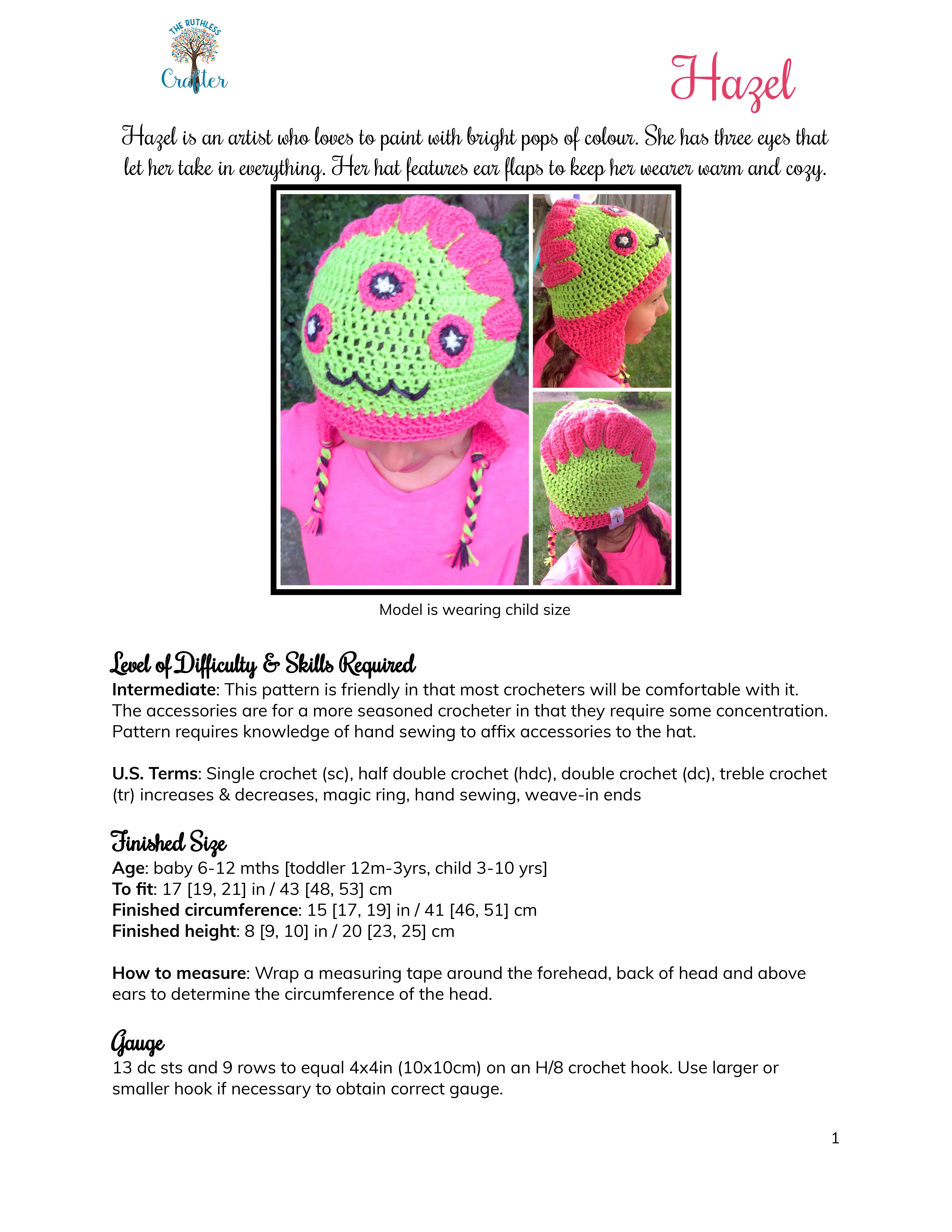 Crochet PATTERN – Hazel (Infant, Toddler, and Child sizes) – The ...