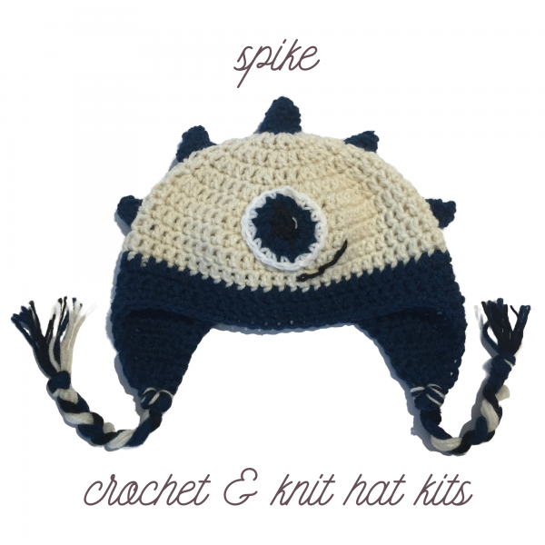 spike crochet and knit hat kit