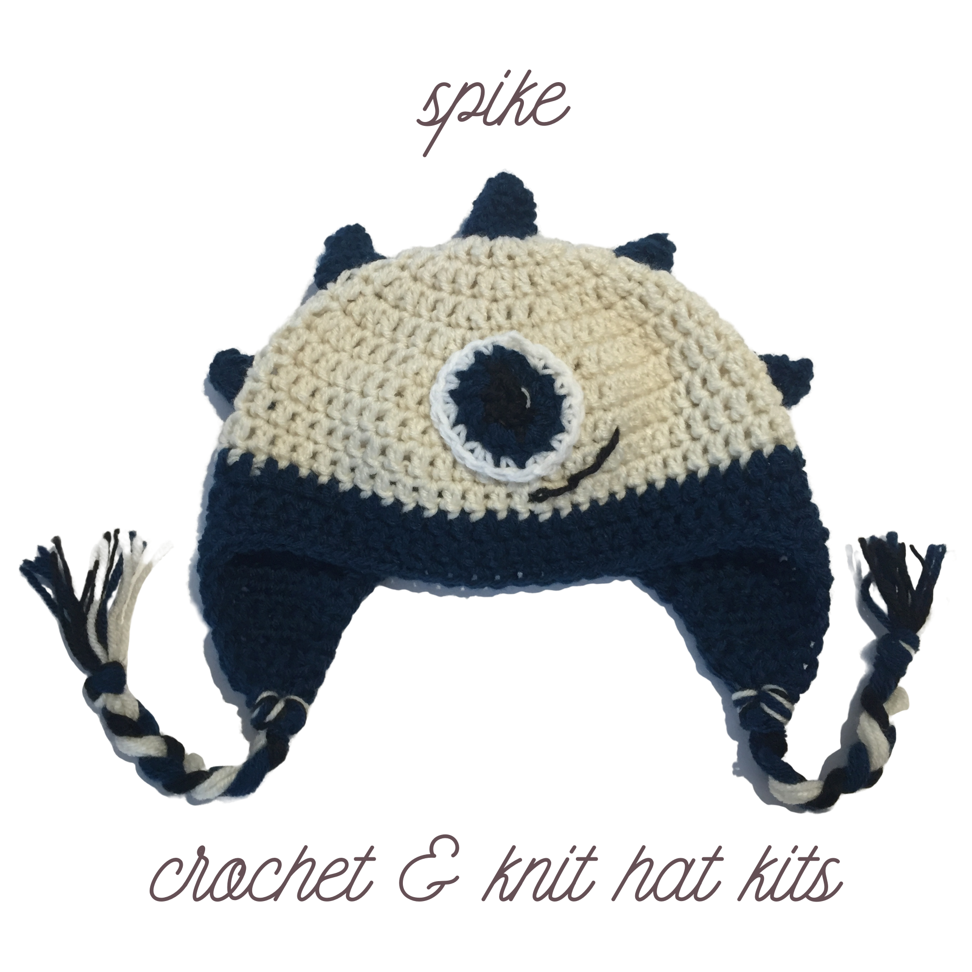 spike crochet and knit hat kit image – 2000×2000