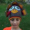 crochet turkey hat for tween - image 1