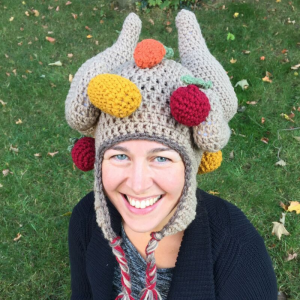 crochet turkey leg hat pattern - image 1