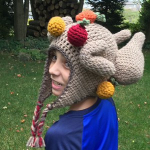 crochet thanksgiving hat for tweens - image 2