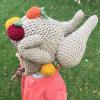 funny turkey hats - toddler crochet 3