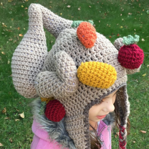 crochet thanksgiving turkey hat for kids - image 3