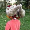 funny turkey hats - toddler crochet 4