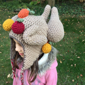 crochet thanksgiving turkey hat for kids - image featured