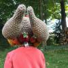 funny turkey hats - toddler crochet 5
