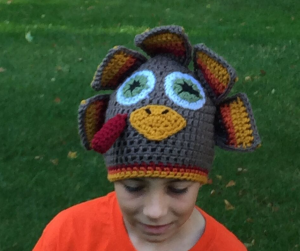 crochet turkey hat for tween - image yoast fb