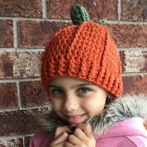 crochet pumpkin hat - image 1