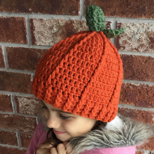 crochet pumpkin hat - image 2