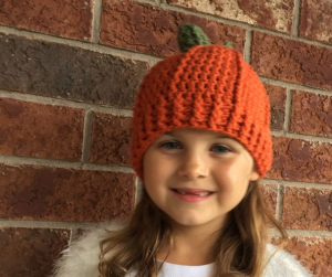 crochet pumpkin hat - image fb