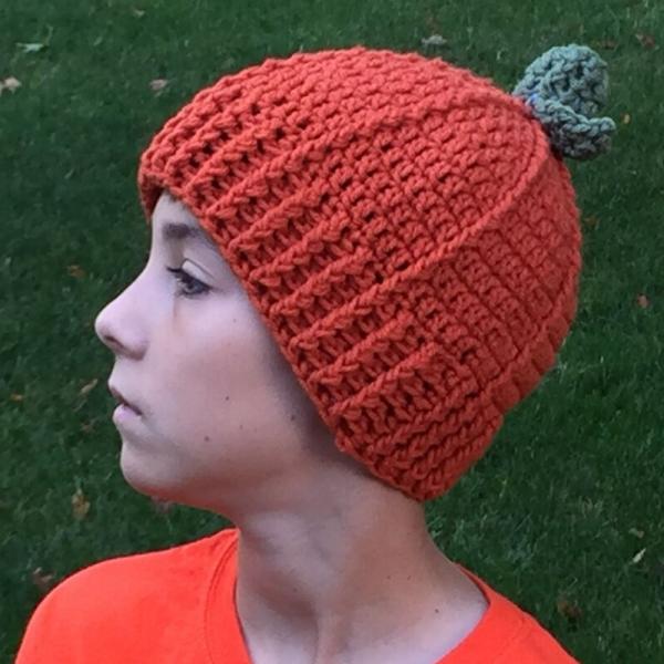 free crochet pumpkin hat pattern - image 1