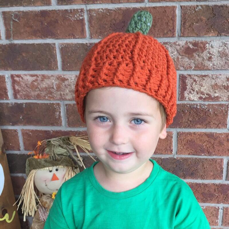 listing – toddler pumpkin hat – image 1