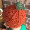 crochet pumpkin beanie - image 4