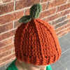 crochet pumpkin beanie - image 5
