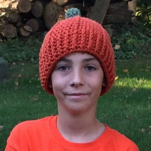 tween pumpkin beanie - image 1