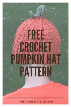 crochet pumpkin hat - blog featured image