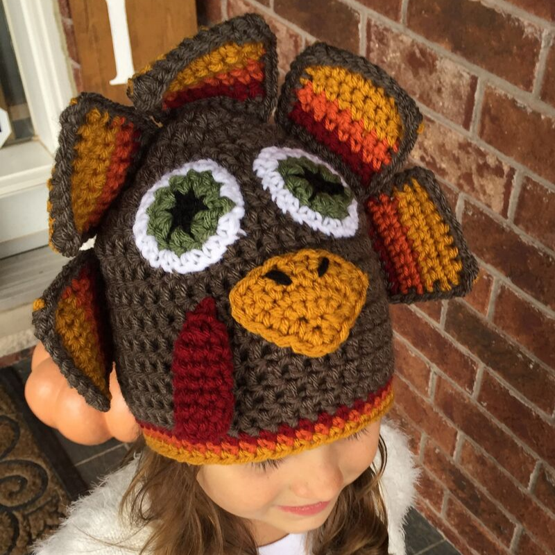 crochet turkey hat free pattern - image 1