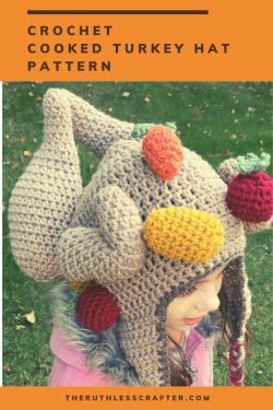 crochet roast turkey hat - image featured