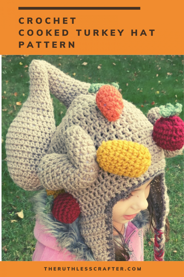 crochet roast turkey hat - image featured