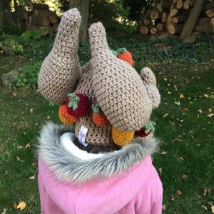 crochet roast turkey hat - image 3