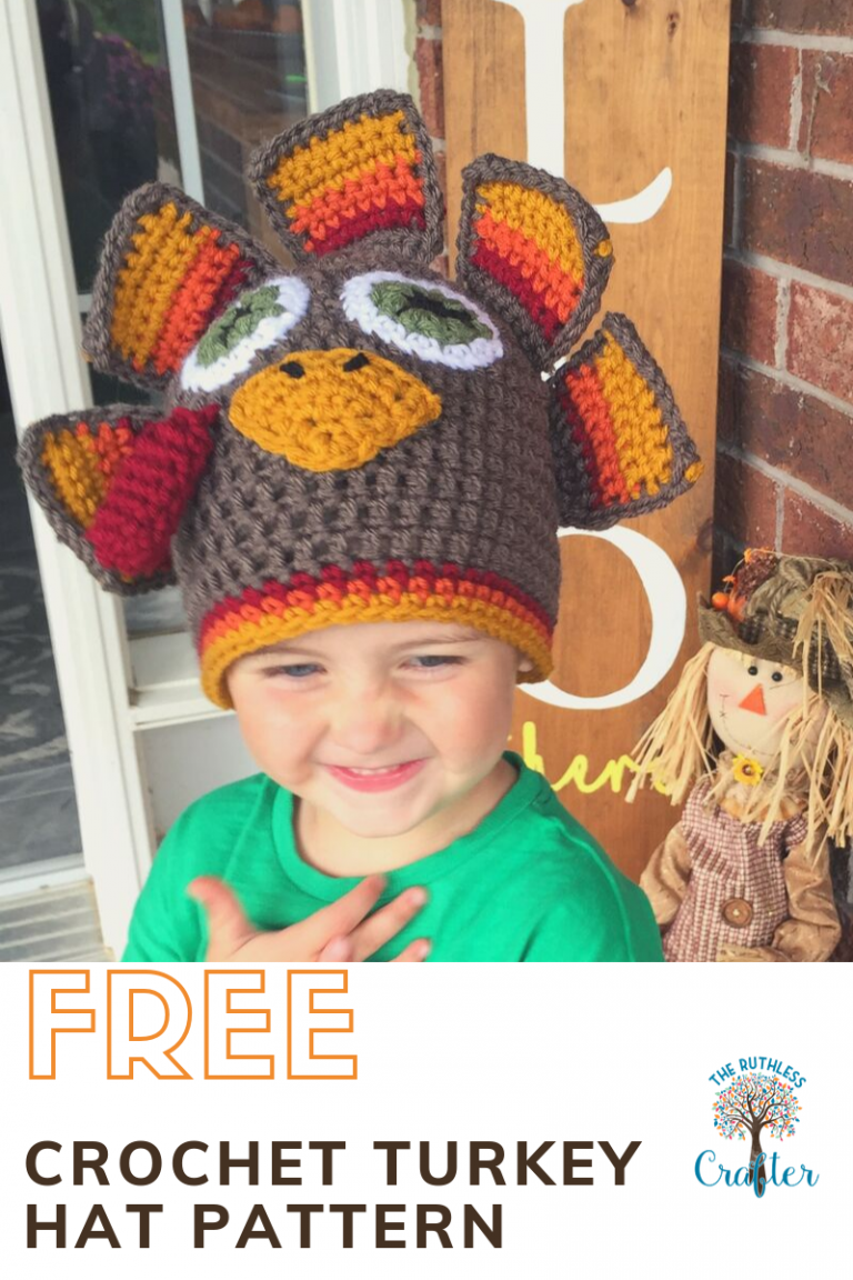 crochet turkey beanie - featured image