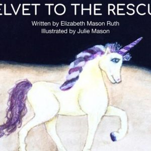 velvet to the rescue - unicorn story book featured image