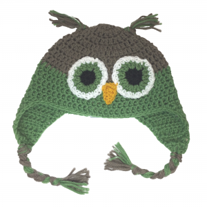 green owl crochet hat image featured