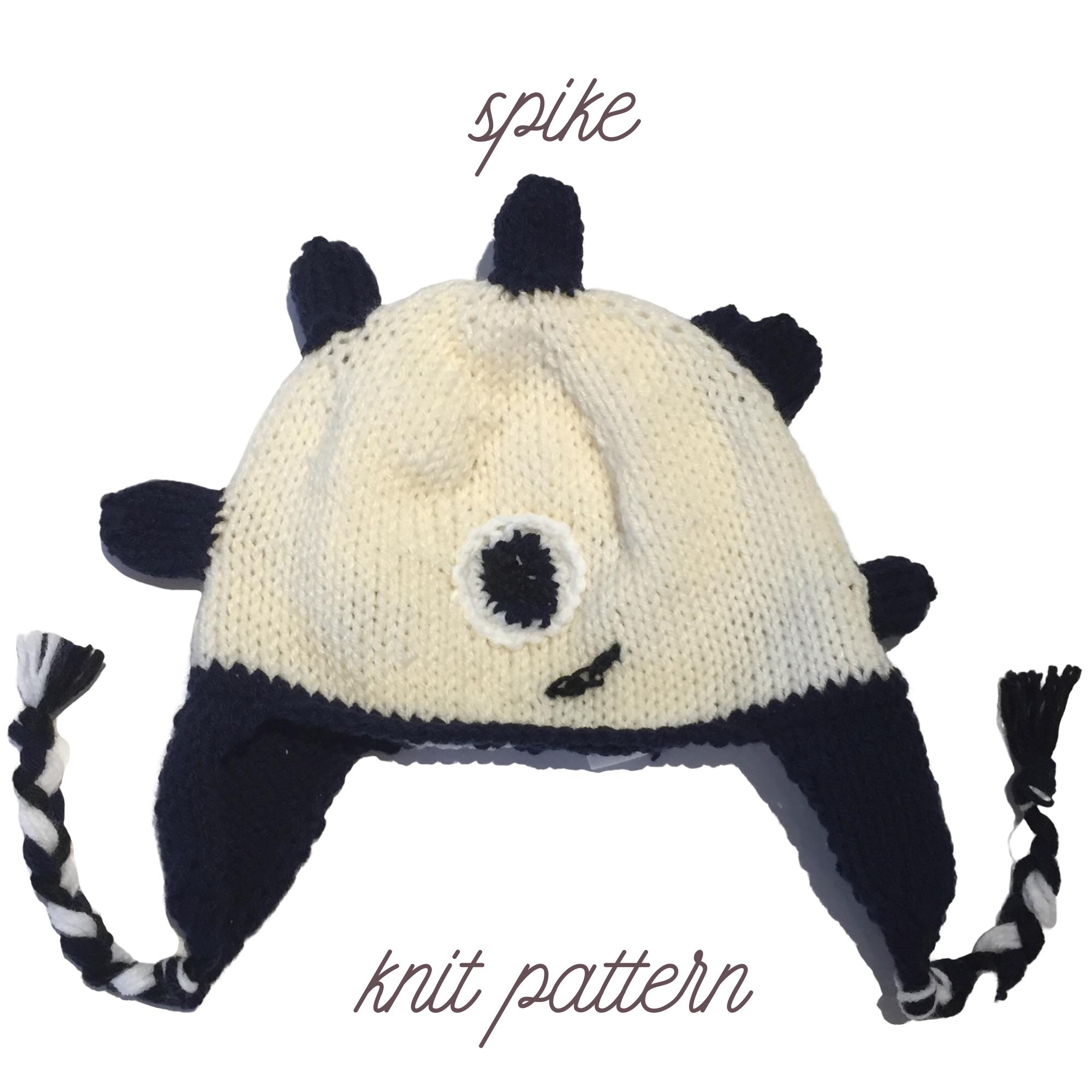 spike knit hat pattern image – 2000×2000