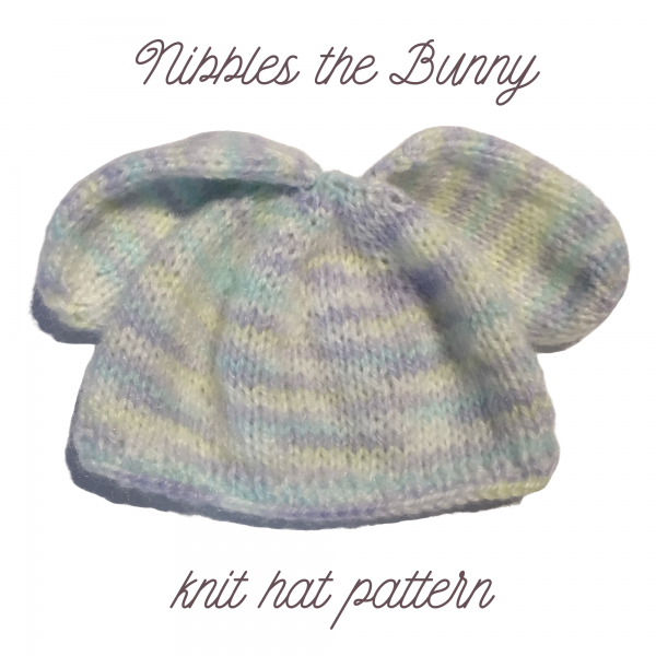 knit bunny hat pattern featured image