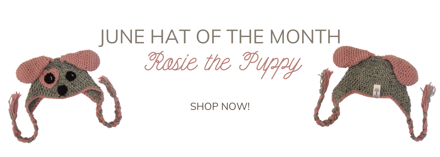 june hat of the month - rosie the puppy