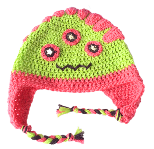 hazel girl crochet monster hat - featured image
