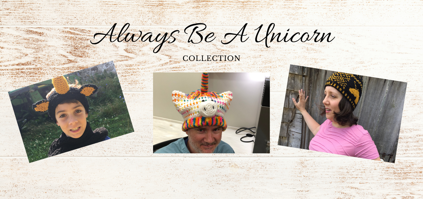 2019 11 always be a unicorn collection patterns and hats - website slider 1600 x 755